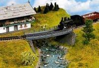 NOCH HO Scale Curved Bridge Base Kit # N21350